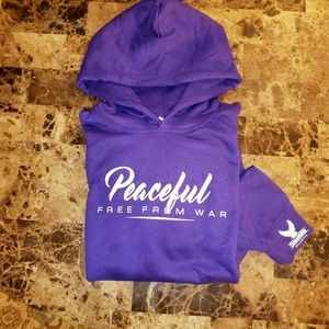 Peaceful Hoodie by Convertible Helicopter